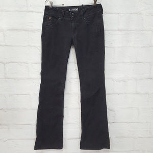Hudson Low Rise Boot Cut Jeans Black Sz 29